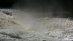 Fast Flowing Flood Water Rapids Stock Footage