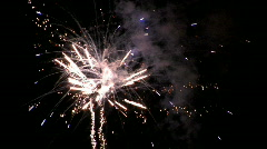 Fireworks action celebration at night M HD Stock Footage