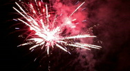 Stock Video Footage of Fireworks action celebration at night M HD