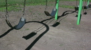 Four Swings in Park Stock Footage
