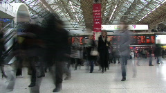Stock Video Footage of Victoria Station Time Lapse