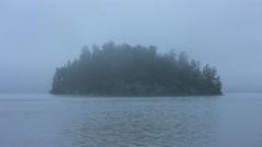 Stock Video Footage of Misty island.