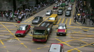Stock Video Footage of Hong Kong traffic, China