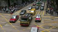 Stock Video Footage of China Hong Kong financial district pedestrians crosswalk zebra crossing