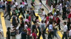 China Hong Kong Causeway Bay crosswalk zebra crossing Stock Footage