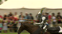 Two Knights Joust - stock footage