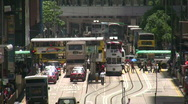 Stock Video Footage of China Hong Kong financial district traffic jam congestion gridlock