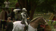 Knight parading after joust - stock footage