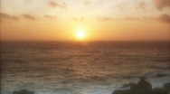 Stock Video Footage of Sunset by the Sea