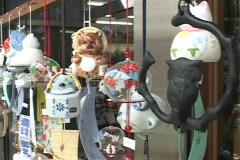 Teapot vendor stall Pan Stock Footage