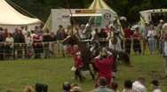 Stock Video Footage of Knights Jousting