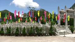 China Hong Kong Lantau Po Lin Monastery Buddha Stock Footage