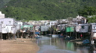 Stock Video Footage of China Hong Kong Lantau Tai O Houses on Stilts