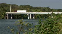 Lake Travis Bridge Traffic - stock footage