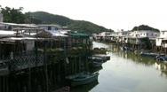 Stock Video Footage of China Hong Kong Lantau Tai O houses on stilts