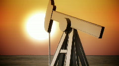 Nt oil pump one Stock Footage