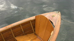 Antique wooden boat. Stock Footage