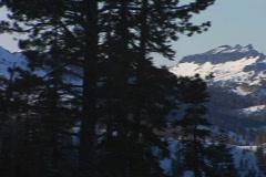 Mountainous snowy landscape Stock Footage