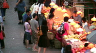 Stock Video Footage of China Hong Kong Mong Kok street market