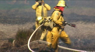 Fire Fighter Close Stock Footage