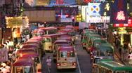 Stock Video Footage of China Hong Kong Mong Kok traffic jam congestion