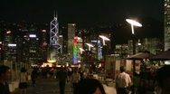 Stock Video Footage of China Hong Kong harbour harbor Avenue of Stars