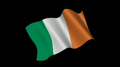 Irish flag - stock footage