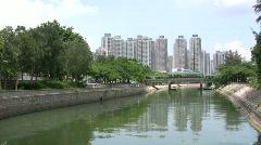 China Hong Kong social apartment housing estate Stock Footage