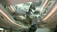 China Hong Kong Festival Walk Shopping Arcade Mall Stock Footage
