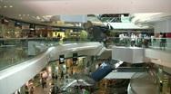 China Hong Kong Festival Walk Shopping Arcade Mall Stock Footage