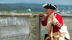 BRITISH SOLDIER 1758 Stock Footage