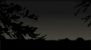 CG Moonrise 001 (1080p 23.98fps) Stock Footage