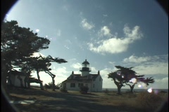 LightHouse monterey bay Stock Footage
