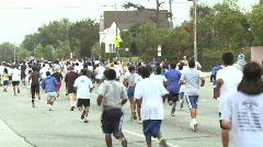 Crowded Marathon Runners Stock Footage