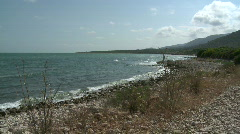 Sea and coast landscape, Sierra de Irta National Park - stock footage