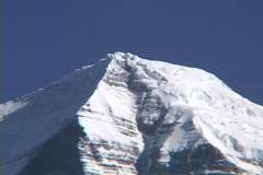 Mt Robson MS pull to WS 2 - stock footage