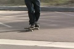 Jeff Zimmerman skateboarding manual pad Stock Footage