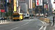 Times Square Bus Stock Footage