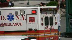 New York City Ambulance Manhattan  Stock Footage