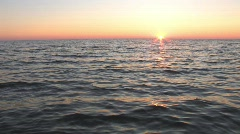 Great Lakes Sunset - stock footage