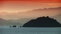 Island in San Francisco Bay Stock Footage