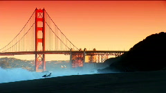View of the Golden Gate Bridge Stock Footage