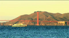 Bay & bridge of San Francisco Stock Footage