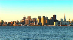 San Francisco from the bay Stock Footage