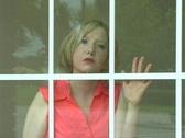 Beautiful Blonde in the Window (2) Stock Footage