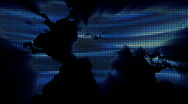 Loopable world map blue colours Stock Footage