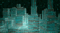 Digital City. HD 1080. Stock Footage