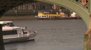 Thames boat 02 Stock Footage