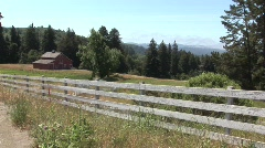 Country Barn Hillside Stock Footage