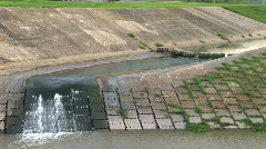 Water drainage 2 Stock Footage